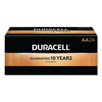 DURACELL CopperTop Alkaline Battery, 1.5V, AA, 24/CT