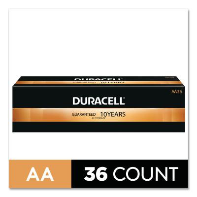 DURACELL CopperTop Alkaline Battery, 1.5V, AA, 36/CT