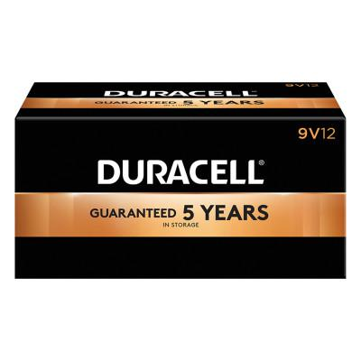 DURACELL CopperTop Alkaline Battery, 9V, 12/BX