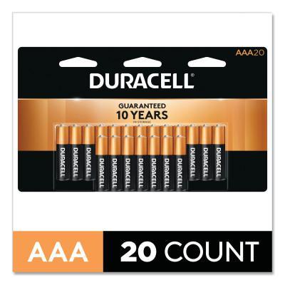 DURACELL CopperTop Alkaline Battery, 1.5V, AAA, 20/PK