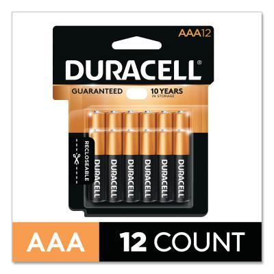 DURACELL CopperTop Alkaline Battery, 1.5V, AAA, 12/PK