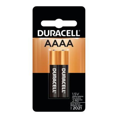DURACELL CopperTop Alkaline Battery, 1.5V, AAAA, 1 EA/PK