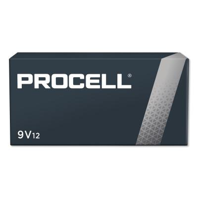 DURACELL Procell Battery, Non-Rechargeable Dry Cell Alkaline, 9V, 12/PK