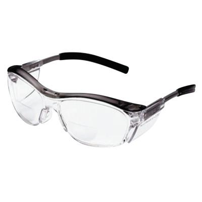 3M Nuvo Reader Protective Eyewear, +2.5 Diopter, Clear Anti-Fog Lens, Gray Frame