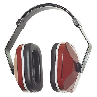 EAR E-A-R Muffs, 20 dB NRR, Maroon, Wear Over Head, Behind Neck, Under Chin