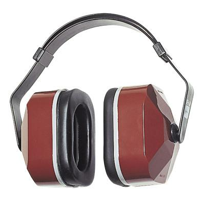 EAR E-A-R Muffs, 25 dB NRR, Maroon, Wear Over Head, Behind Neck, Under Chin