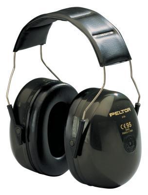 PELTOR Optime 101 Earmuffs, 27 dB NRR, Dark Green, Over the Head