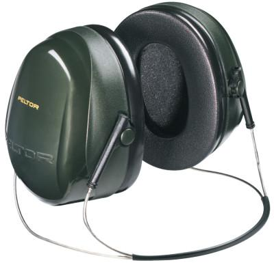 PELTOR Optime 101 Earmuffs, 26 dB NRR, Dark Green, Behind the Head