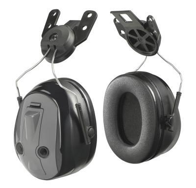 PELTOR Peltor PTL Earmuffs, 25 dB, Gray, Cap-Attached Earmuff
