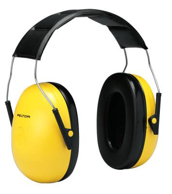PELTOR Optime 98 Earmuffs, 25 dB NRR, Yellow, Over the Head