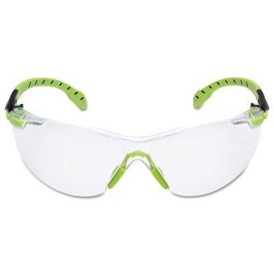 SAFEWAZE Solus 1000-Series Protective Eyewear, Clear Poly Antifog Lens, Green/Black Frame
