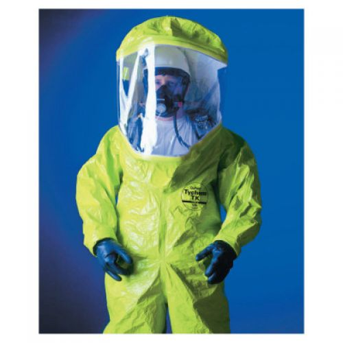 DUPONT Tychem TK Encapsulated Level A Suit Rear Entry, Lime Yellow, 2X-Large