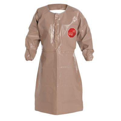 DUPONT Tychem CPF3 Apron with Long Sleeves, 27 in X 43 1/2 in