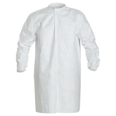 DUPONT Tyvek IsoClean Frock with Snap Front, 2X-Large, White