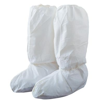 DUPONT Tyvek IsoClean High Boot Covers with PVC Soles, Large, White