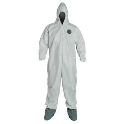 DUPONT ProShield NexGen Coveralls with Attached Hood and Boots, White, 3X-Large