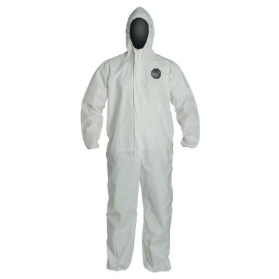 DUPONT ProShield NexGen Coveralls with Attached Hood, White, 2X-Large