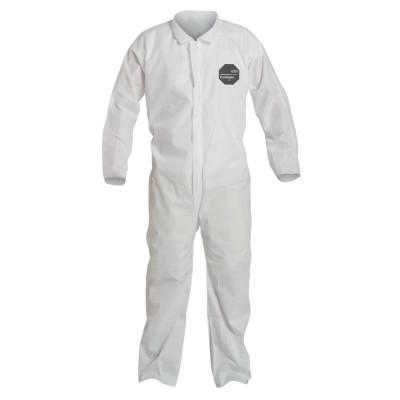 DUPONT Proshield 10 Coveralls White with Open Wrists and Ankles, White, Medium