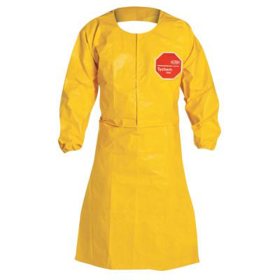 DUPONT Tychem QC Apron with Long Sleeves, 27 in X 43 1/2 in