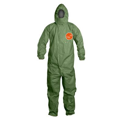 DUPONT Tychem 2000 SFR Protective Coveralls, Hooded Coverall, Green, X-Large
