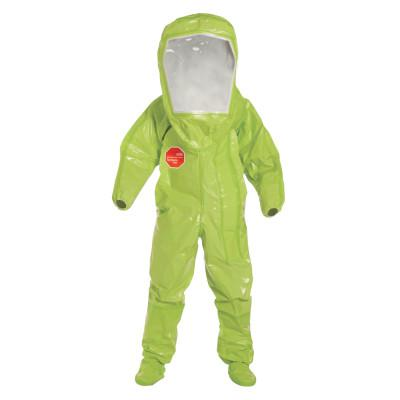 DUPONT Tychem TK Encapsulated Level B Coverall, High Visibility Lime Yellow, Large