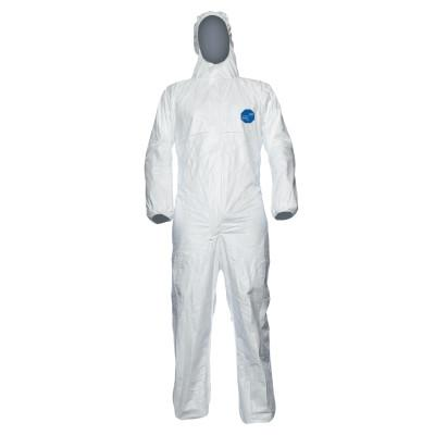 DUPONT Tyvek Xpert Type 5/6 Coverall with Hood, White, Large