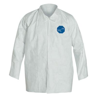 DUPONT Tyvek Shirt Snap Front, Long Sleeve, Small