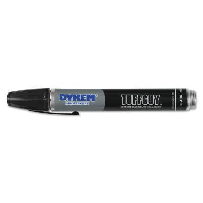 DYKEM Tuff Guy™ Marker, Black, Medium,Threaded Cap Tip