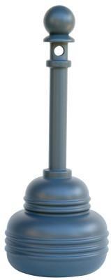 "EAGLE MFG 1206 Series FM Approved SafeSmoker Receptacles, 5 qt, 38"" h, Polyethylene, Black"