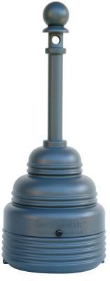 EAGLE MFG 1208 Series FM Approved SafeSmoker Receptacles, 4 gal, 43 h, Polyethylene, Beige