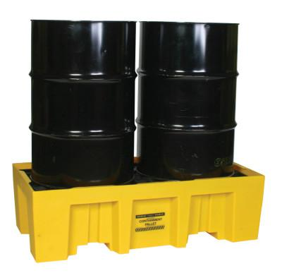 EAGLE MFG Spill Containment Pallets, Yellow, 4,000 lb, 66 gal, 26 1/4 in x 51 in