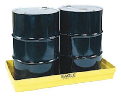 EAGLE MFG 2-Drum Budget Basins, Yellow, 5,000 lb, 34 gal, 51 1/2 in x 26 1/4 in