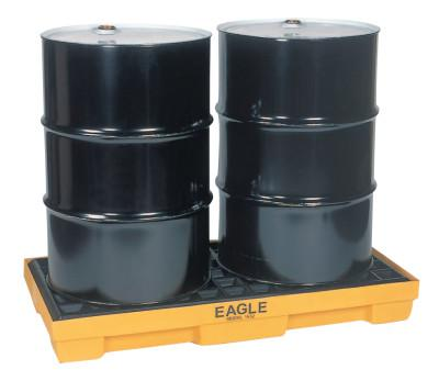 EAGLE MFG Spill Containment Pallets, Yellow, 5,000 lbs, 30 gal, 51 1/2 in x 26 1/4 in