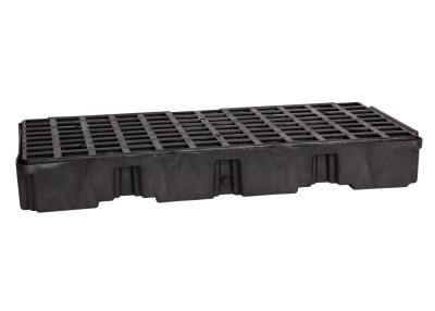 "EAGLE MFG Drum Modular Spill Platforms w/o Drain, Black, 5,000 lbs, 30 gal, 51.5"" x 26.25"""