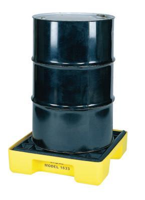 EAGLE MFG 1-Drum Modular Platforms, Yellow, 2,000 lb, 15 gal, 26 in x 26 1/4 in