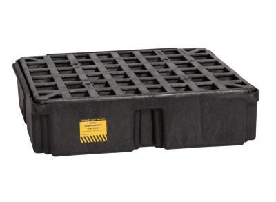 "EAGLE MFG Drum Modular Spill Platforms w/o Drain, Black, 2,000 lbs, 15 gal, 26 1/4"" x 26"""