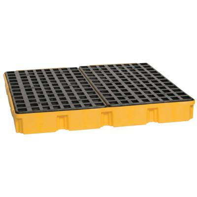 EAGLE MFG 4-Drum Modular Platforms, Yellow, 10,000 lb, 60.5 gal, 52 1/2 in x 51 1/2 in