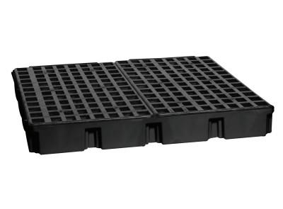 "EAGLE MFG Drum Modular Spill Platforms w/o Drain, Black, 10,000 lbs, 60.5 gal, 52.5""x51.5"""