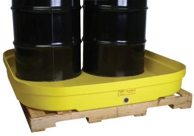 EAGLE MFG 4-Drum Budget Basins, Yellow, 8,000 lb, 66 gal, 51 1/2 in x 51 1/2 in