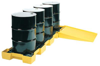EAGLE MFG Spill Containment Platforms, Yellow, 10,000 lb, 60.5 gal, 30 1/4 in x 103 1/2 in