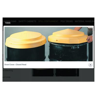 EAGLE MFG Closed Head Drum Cover, High Density Polyethylene (HDPE), 23 in Dia.