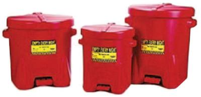 EAGLE MFG Polyethylene Oily Waste Cans, Oiler, 6 gal, Red