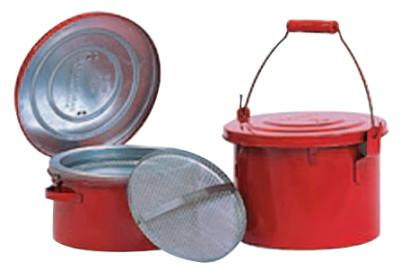 EAGLE MFG Bench and Daub Cans, Oiler, 6 qt, Red
