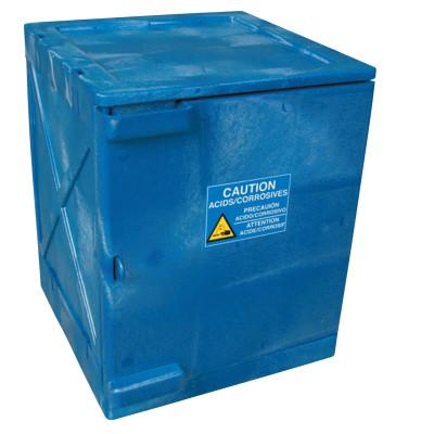EAGLE MFG Modular Quik-Assembly Poly Cabinet, HDPE, 4 Gallon, Blue