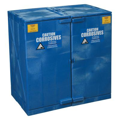 EAGLE MFG Modular Quik-Assembly Poly Cabinet, HDPE, 24 Gallon, Blue