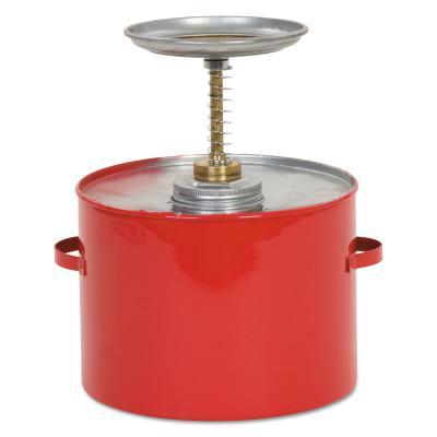 EAGLE MFG Safety Plunger Cans, Oiler, 1 qt, Red