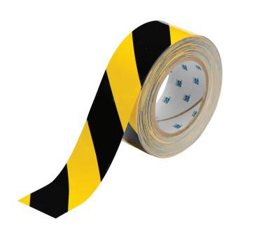 BRADY ToughStripe Floor Marking Tape, 2 in x 100 ft, Black/Yellow