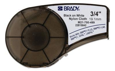 "BRADY CART M21 B499 0.75"" X 16' BLK/WHT"
