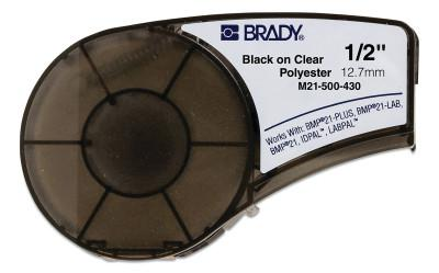 BRADY CART M21 B430 0.5INX21FTBLK/CLR