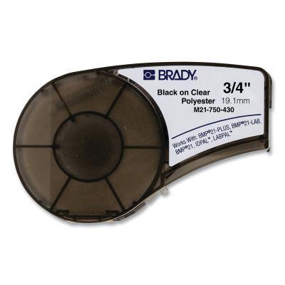BRADY CART M21 B430 0.75INX21FT BLK/CLR